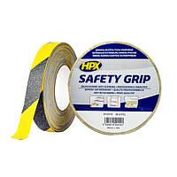 HPX SAFETY GRIP - самоклеющаяся лента против скольжения, черно-желтая - 25мм х 18м