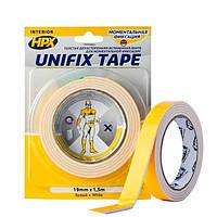 UNIFIX - толстая - 3мм монтажная лента (скотч) HPX для моментальной фиксации - белая - 19мм x 15м