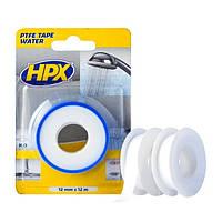 ФУМ-лента HPX для водопроводных фитингов - 12мм х 12м