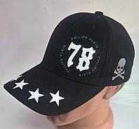 Бейсболка из джинсовой ткани 9189/1 Ph78 звезды черный, 58 размер Ellipse
