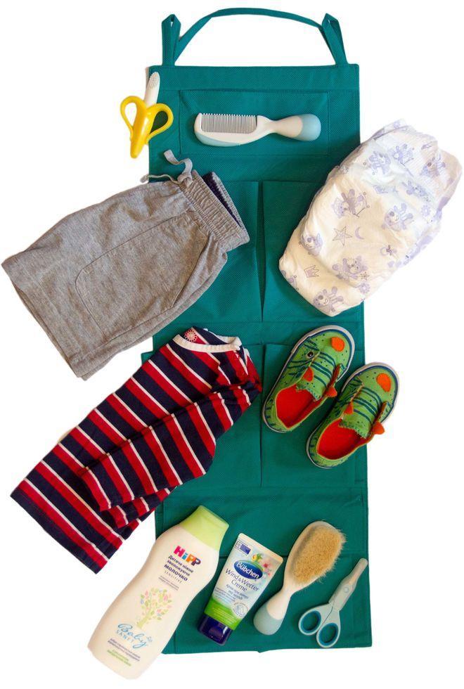 Подвесной органайзер для шкафчика в детский сад ORGANIZE E002 зеленый