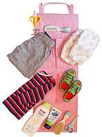 Подвесной органайзер для шкафчика в детский сад ORGANIZE E002 розовый, фото 1
