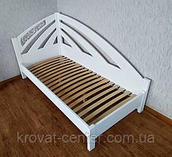 """Белая односпальная деревянная кровать """"Радуга Люкс"""", фото 3"""