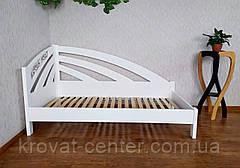 """Белая односпальная деревянная кровать """"Радуга Люкс"""", фото 2"""