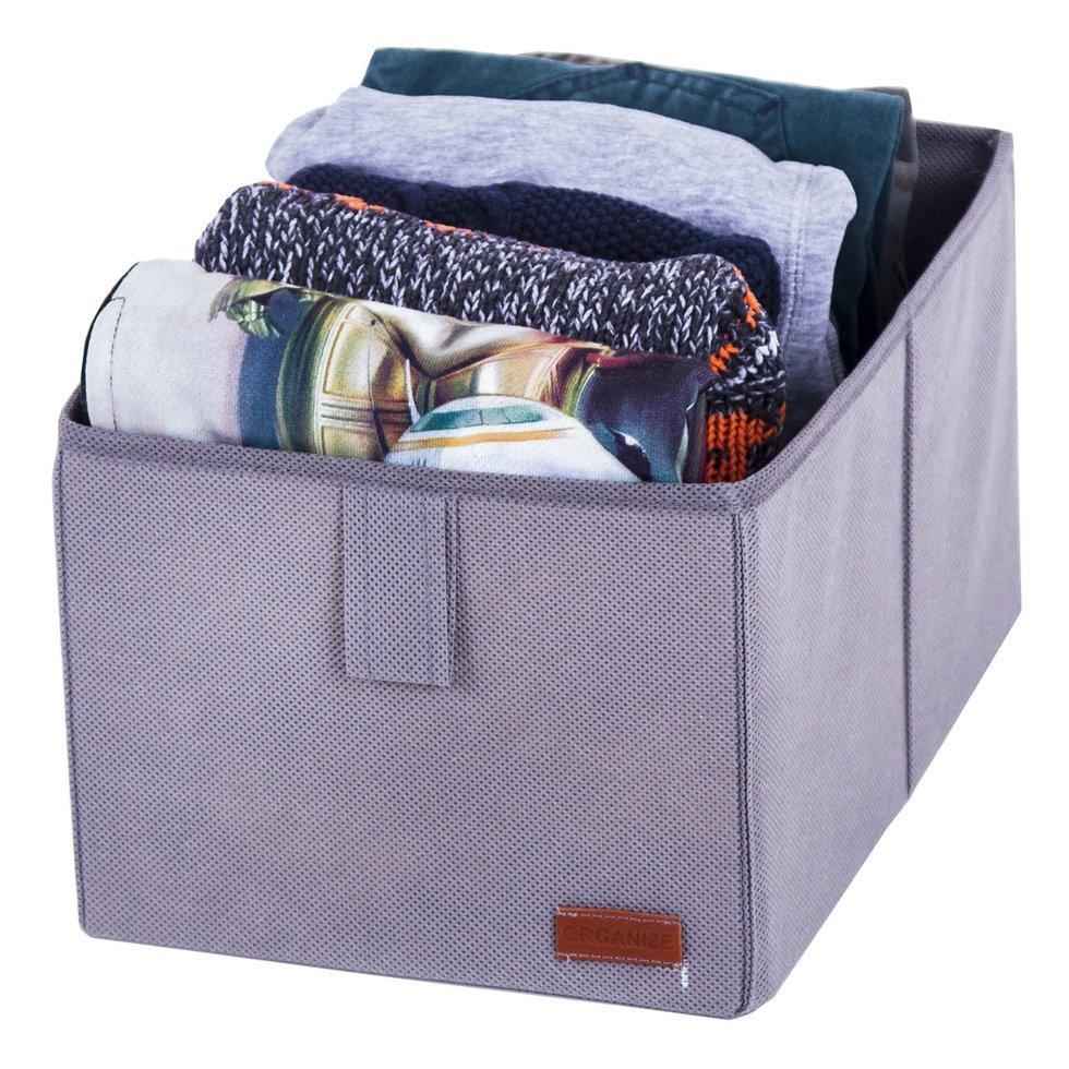 Ящик-органайзер для хранения вещей M ORGANIZE HY-M-grey серый