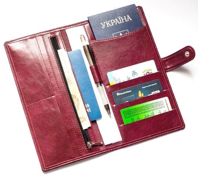 Дорожное портмоне для документов и билетов Air ORGANIZE C021-wine винный