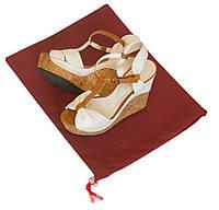 Мешок-пыльник для обуви с затяжкой ORGANIZE HO-01-wine винный, фото 1