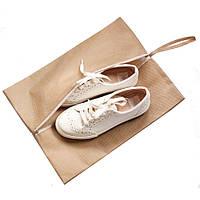 Объемная сумка-пыльник для обуви на молнии ORGANIZE HO-02-beige бежевый
