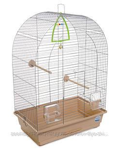 Клетка «Арка» для мелких и средних декор. птиц (хром/бежевый), Природа™