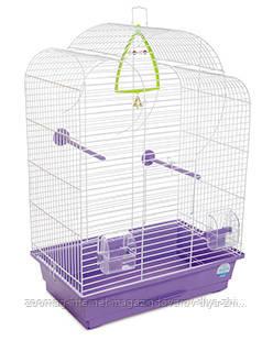 Клетка «Воля» для мелких декоративных птиц (белый/фиолетовый), Природа™