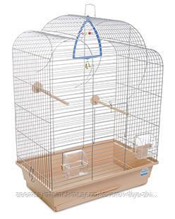 Клетка «Воля» для мелких декоративных птиц (хром/бежевый), Природа™