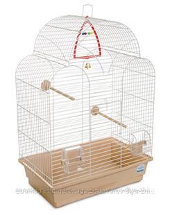 Клетка «Изабель 1» для мелких декоративных птиц (белый/бежевый), Природа™