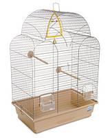 Клетка «Изабель 1» для мелких декоративных птиц (хром/бежевый), Природа™