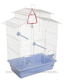 Клетка «Изабель 2» для мелких декор. птиц (белый/голубой), Природа™