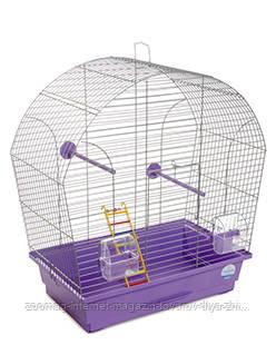Клетка «Лина» для мелких декоративных птиц (хром/фиолетовый), Природа™