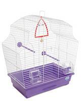 Клетка «Мери» для мелких декоративных птиц (белый/фиолетовый), Природа™