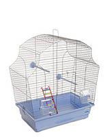 Клетка «Мери» для мелких декоративных птиц (хром/голубой), Природа™