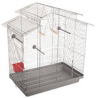 Клетка «Нимфа» для средних декор. птиц (хром/серый), Природа™