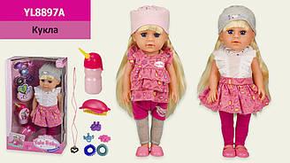 Лялька (кукла) музична YL8897A (12шт) 2 види, гребінець, аксесуари, в кор. 23*11*39 см