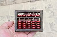 Старинные счеты абакус соробан из массива дерева 90 * 70 * 20 мм подарочные