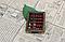 Старинные счеты абакус соробан из массива дерева 90 * 70 * 20 мм подарочные, фото 3