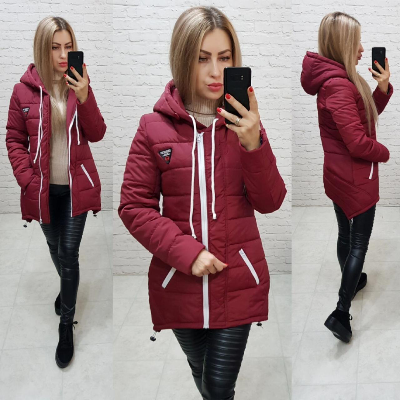 Куртка парка зима арт. 204 марсала / бордо / вишня
