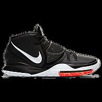 Мужские кроссовки Nike Kyrie 6 Black/White/Red Реплика, фото 1