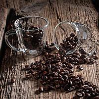 Набір кавових чашок 80 мл з подвійними стінками 2 шт.