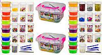 Детский Набор Mix Slime 87461-26, 12 баночек слаймов, бусины, блестки для смешивания, в упаковке BOX