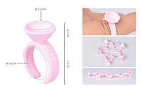 Кольцо для клея без перегородки, розовое, 10 шт