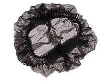 Шапочка одноразовая (гармошка), чёрная , 10 шт