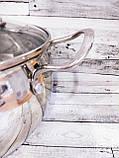 Каструля 3.6 L 20см з нержавіючої сталі Giakoma G-2803-20, фото 3