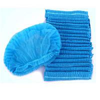 Шапочка одноразовая (гармошка), синяя, 10 шт, фото 1