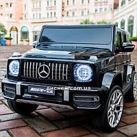 Детский электромобиль M 4214 EBLR-2 Mercedes, кожаное сиденье, черный
