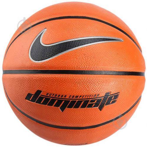 Мяч баскетбольный Nike Dominate Amber/Black/Metallic Size 7 - Оригинал