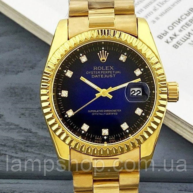 Rolex Date Just 067 New Gold-Blue
