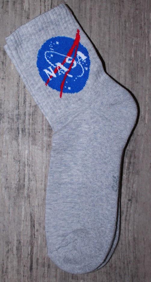 Носки NASA махровая стопа серые {L}