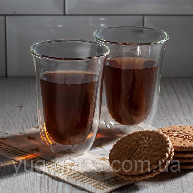Высокие стаканы с двойными стенками