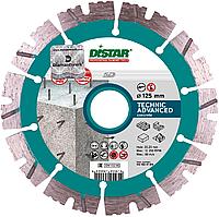 Круг алмазный Distar Technic Advanced 5D 125 мм сегментный диск по бетону, кирпичу и тротуарной плитке на УШМ