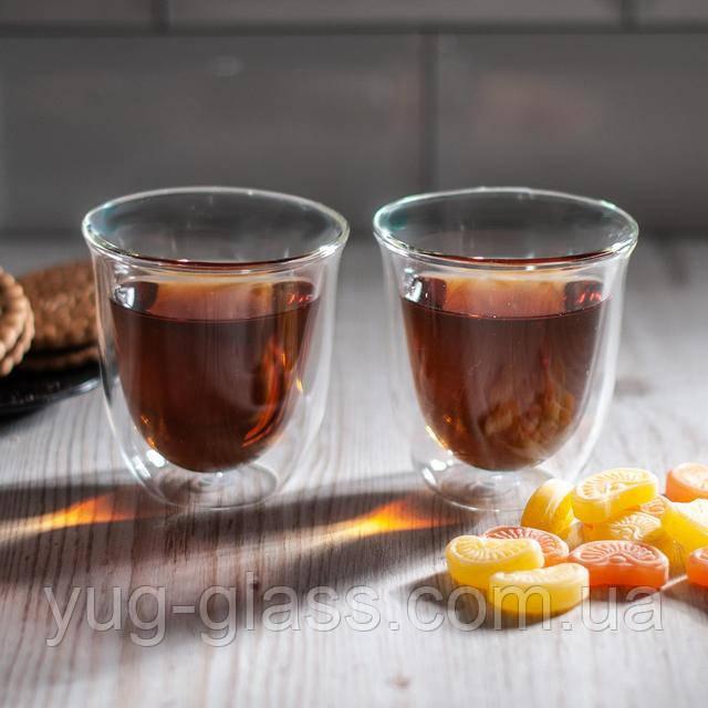 стакан для чая с двойными стенками