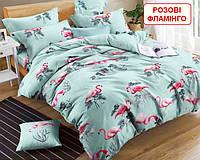 Полуторний комплект постільної білизни - Розові фламінго