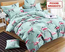 Полуторний комплект постільної білизни - Рожеві фламінго