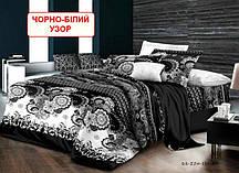 Полуторний комплект постільної білизни - Чорно-білий узор