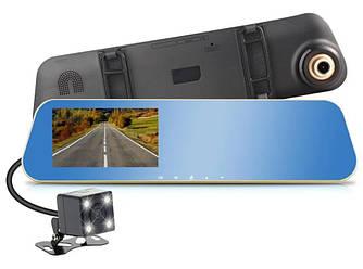 """Автомобильный видеорегистратор зеркало BlackBox DVR DV460 с камерой заднего вида 4,3"""" Gold"""