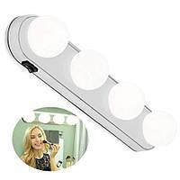 Підсвічування на дзеркало для макіяжу, Studio Glow, 4 лампи, бездротовий світильник