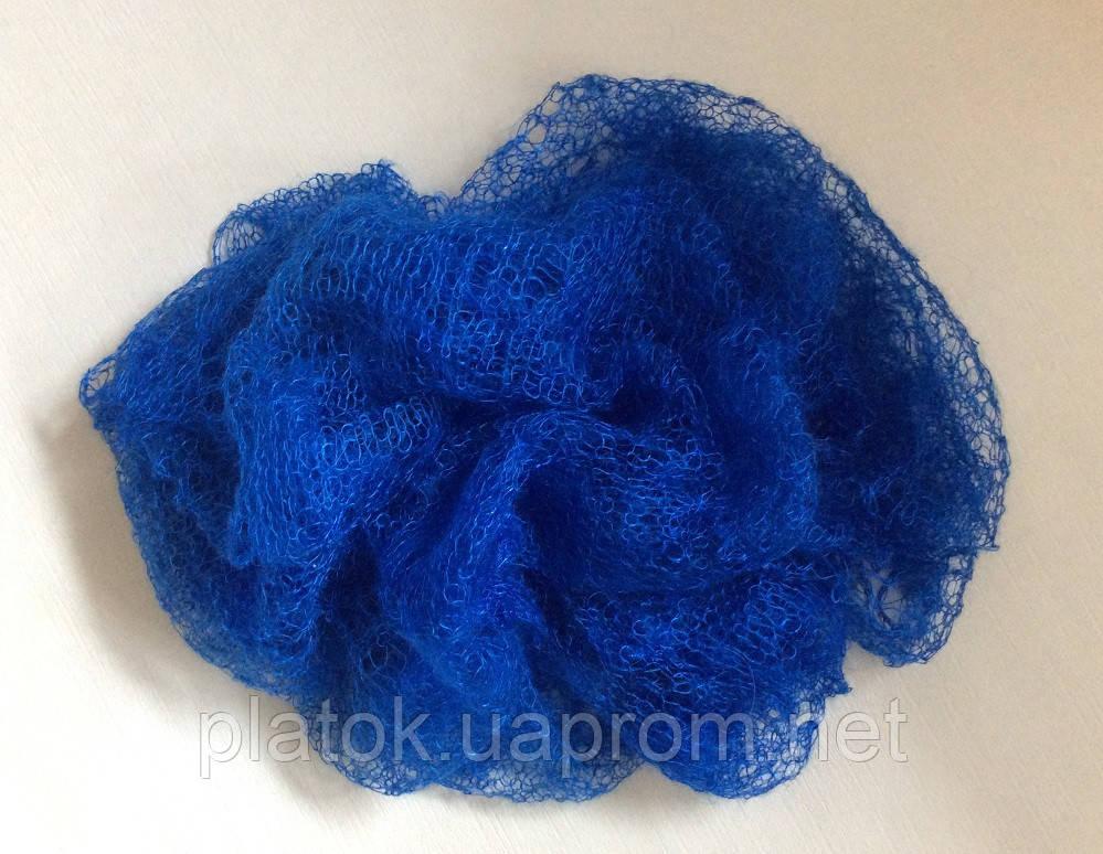 Паутинка Пастели Оренбурга, Ш-00220, цвет синий, оренбургский платок (паутинка)