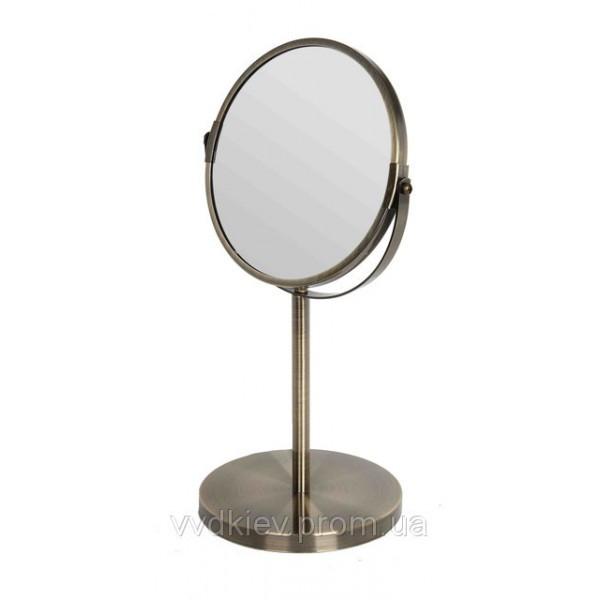 Зеркало макияжное настольное (бронза)