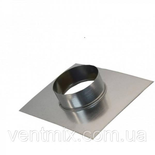 Фланец d 130 мм из оцинкованной стали