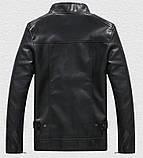 Pintuo мужская куртка в стиле милитари экокожа, фото 5