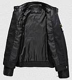 Pintuo мужская куртка в стиле милитари экокожа, фото 6